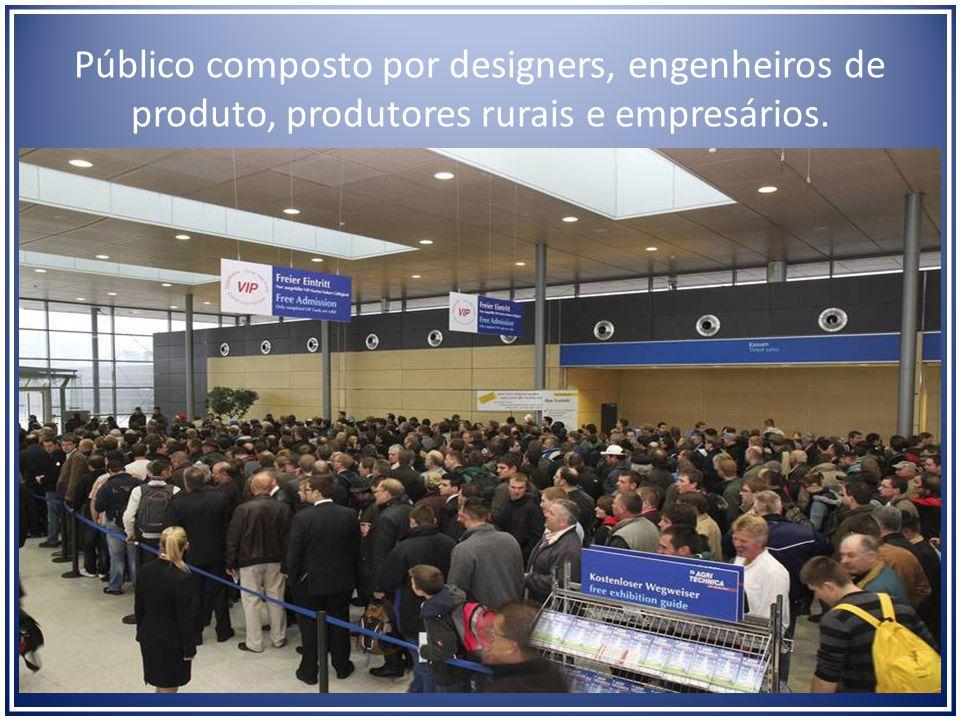 Público composto por designers, engenheiros de produto, produtores rurais e empresários.