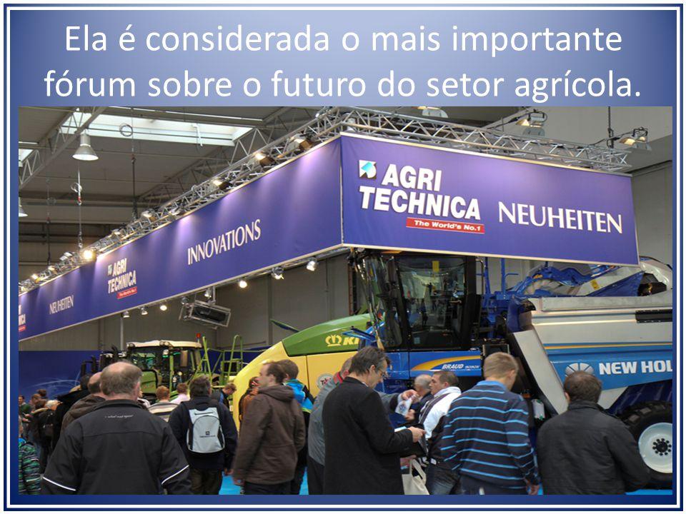 Ela é considerada o mais importante fórum sobre o futuro do setor agrícola.