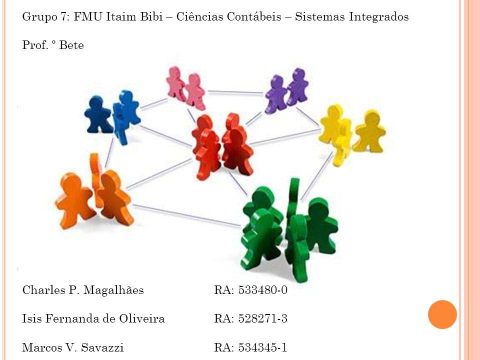 Grupo 7: FMU Itaim Bibi – Ciências Contábeis – Sistemas Integrados Prof.