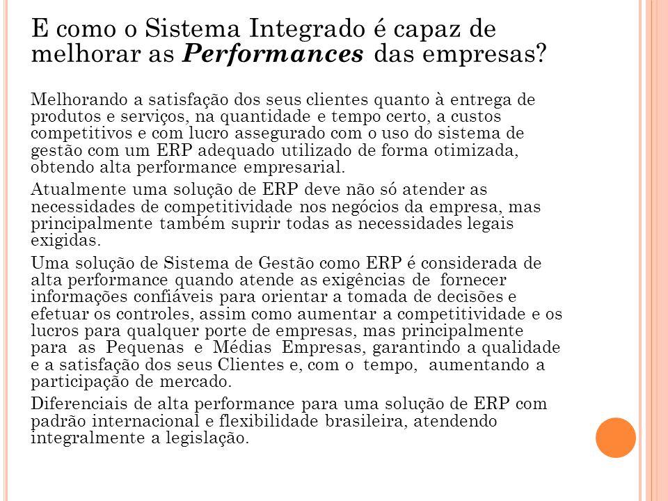 E como o Sistema Integrado é capaz de melhorar as Performances das empresas.
