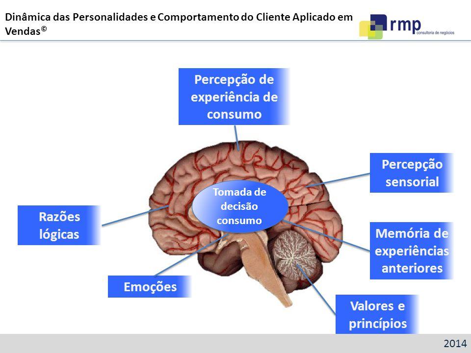 Razões lógicas Percepção de experiência de consumo Emoções Memória de experiências anteriores Percepção sensorial Valores e princípios Tomada de decis
