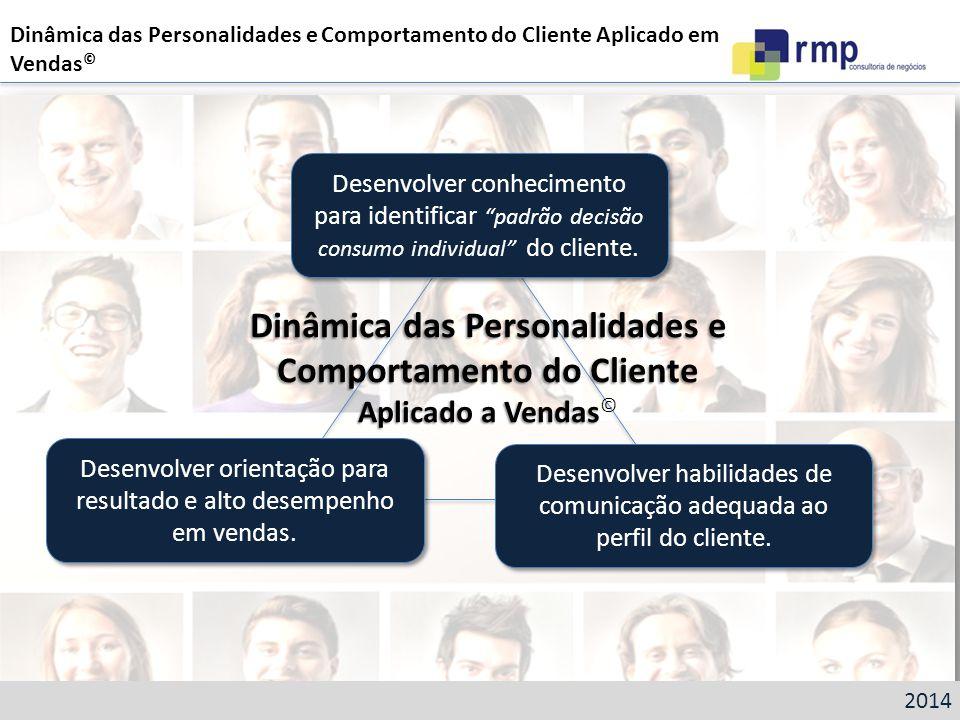Dinâmica das Personalidades e Comportamento do Cliente Aplicado a Vendas Dinâmica das Personalidades e Comportamento do Cliente Aplicado a Vendas © De