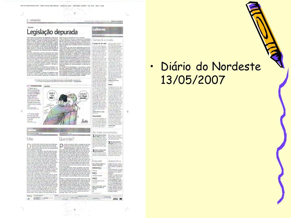 Diário do Nordeste 13/05/2007