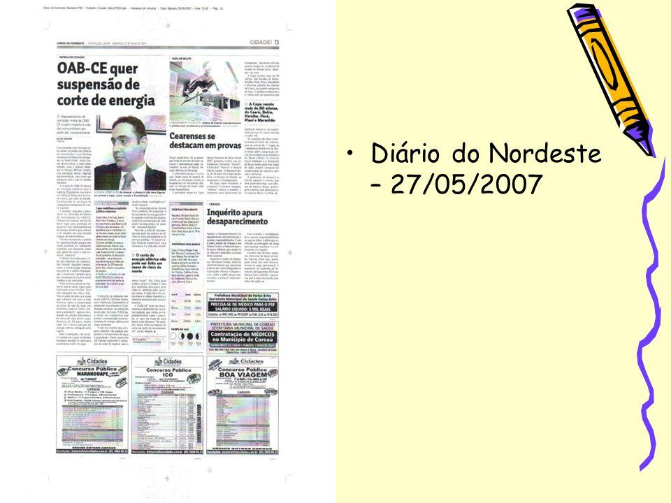 Diário do Nordeste – 27/05/2007