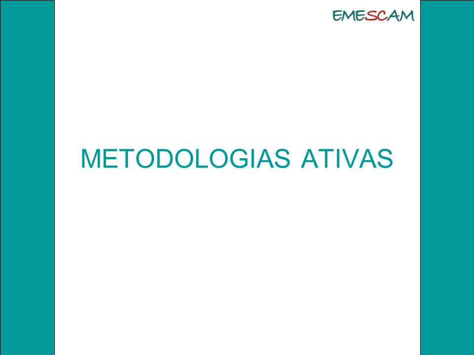 METODOLOGIA ATIVA de ensino- aprendizagem está baseada na forma de desenvolver o processo de aprender utilizando experiências reais ou simuladas, com capacidade para solucionar com sucesso tarefas essenciais da prática profissional em diferentes contextos.