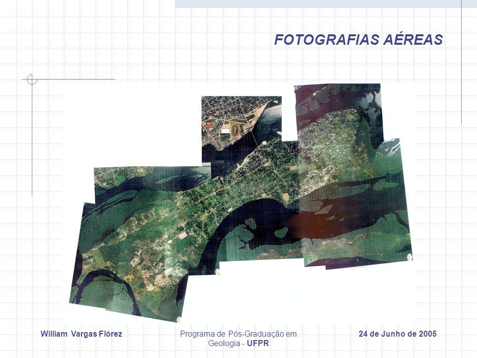 William Vargas FlórezPrograma de Pós-Graduação em Geologia - UFPR 24 de Junho de 2005 FOTOGRAFIAS AÉREAS
