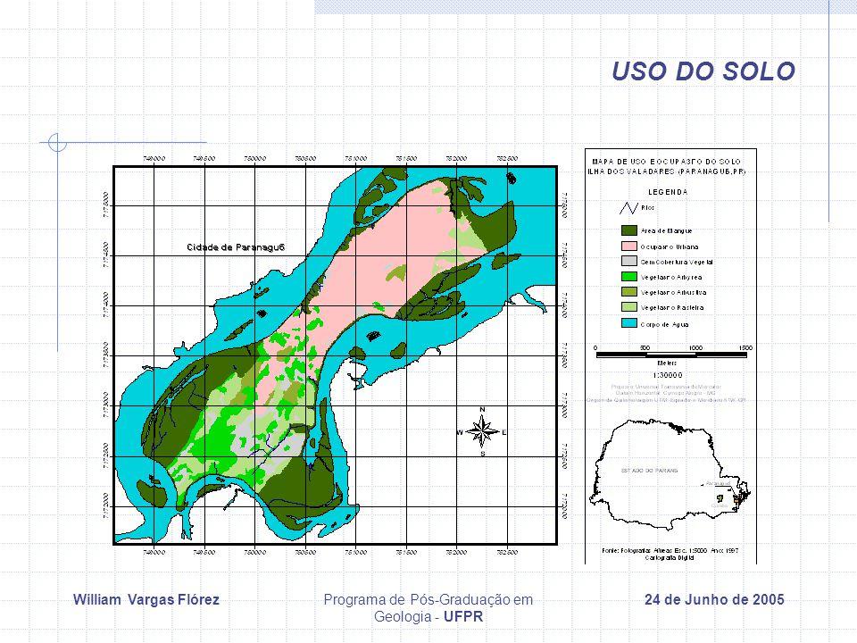 William Vargas FlórezPrograma de Pós-Graduação em Geologia - UFPR 24 de Junho de 2005 USO DO SOLO