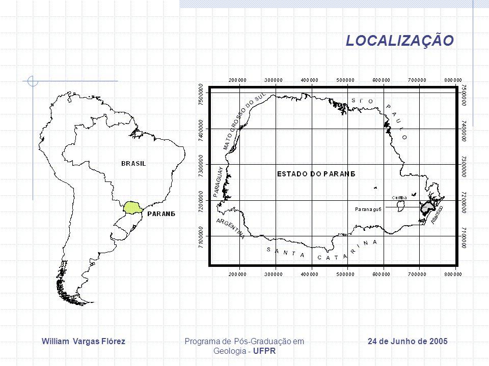 William Vargas FlórezPrograma de Pós-Graduação em Geologia - UFPR 24 de Junho de 2005 LOCALIZAÇÃO