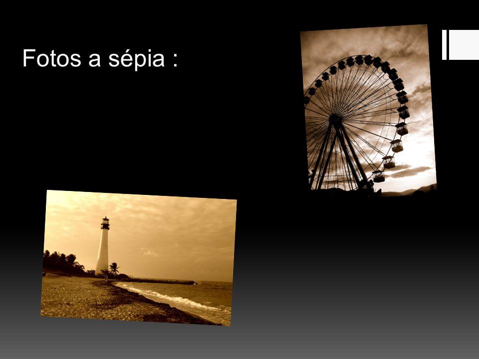 Fotos a sépia :