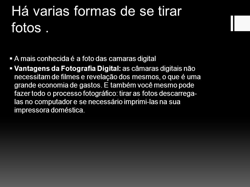 A VARIOS TIPOS DE CAMARAS