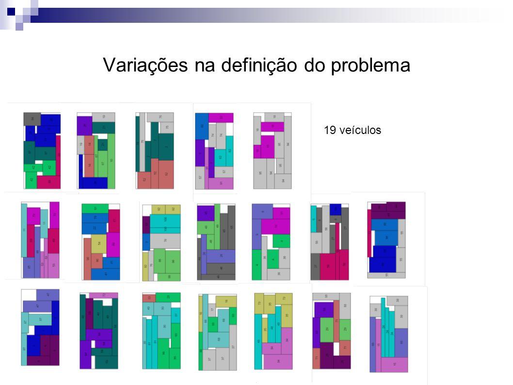 Variações na definição do problema 19 veículos