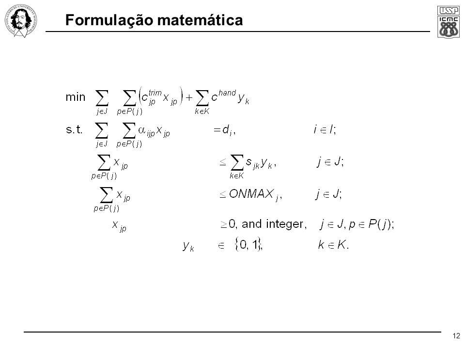 12 Formulação matemática