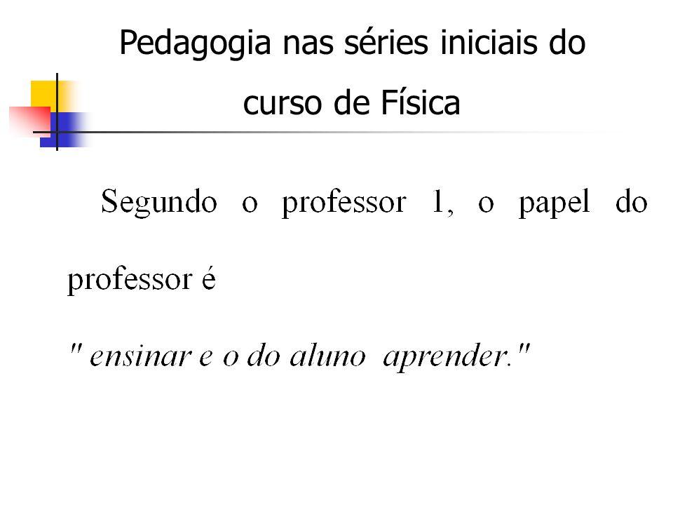 Pedagogia nas séries iniciais do curso de Física