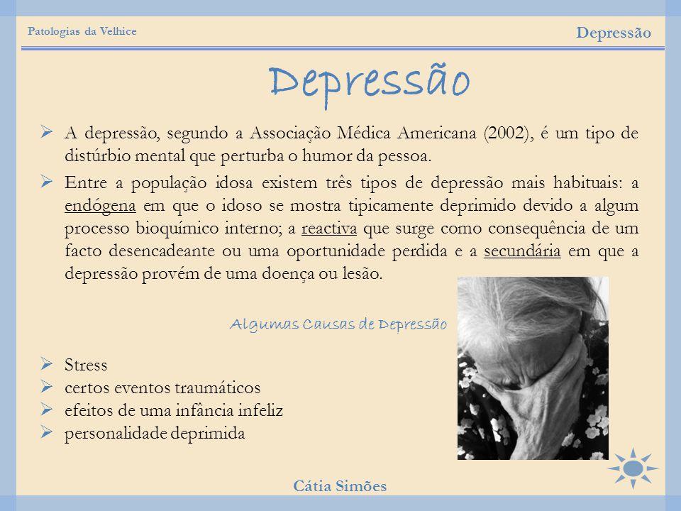  A depressão, segundo a Associação Médica Americana (2002), é um tipo de distúrbio mental que perturba o humor da pessoa.  Entre a população idosa e