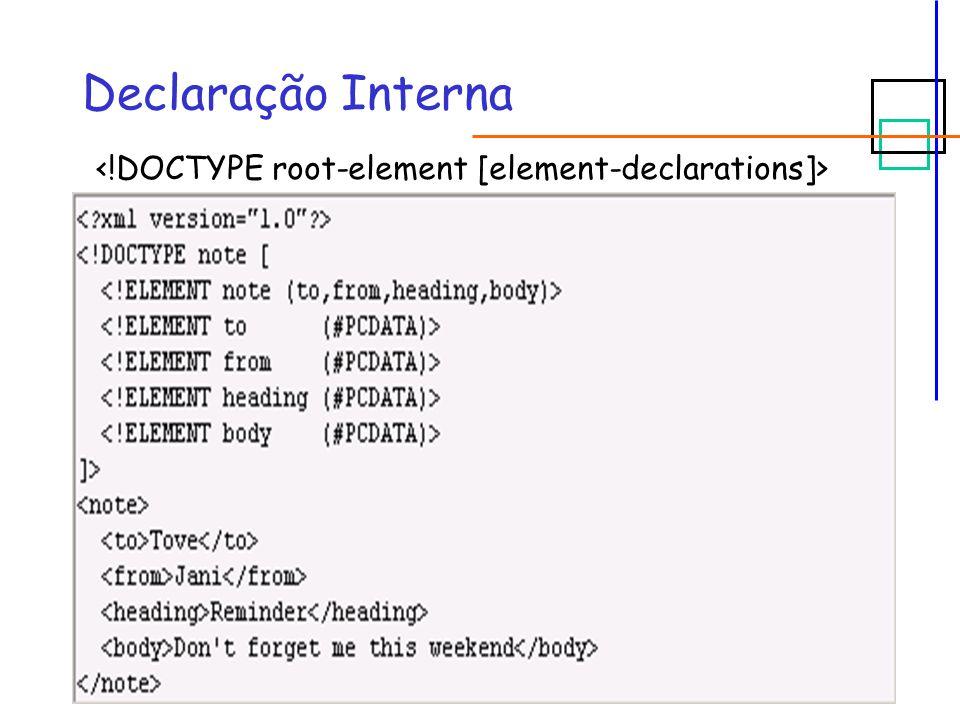 #IMPLIED  Sintaxe:  XML válido: