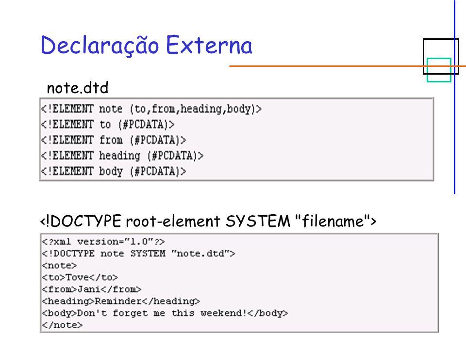 #REQUIRED  Sintaxe:  XML válido:  XML inválido:
