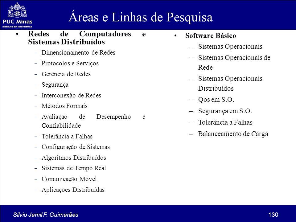 Silvio Jamil F. Guimarães130 Redes de Computadores e Sistemas Distribuídos  Dimensionamento de Redes  Protocolos e Serviços  Gerência de Redes  Se