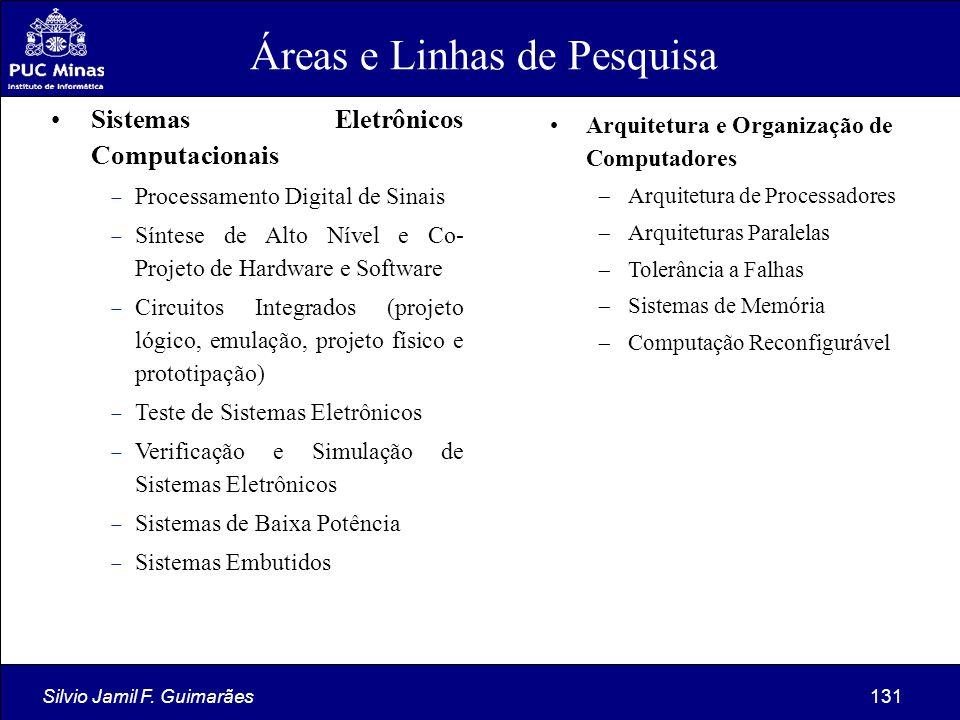 Silvio Jamil F. Guimarães131 Sistemas Eletrônicos Computacionais  Processamento Digital de Sinais  Síntese de Alto Nível e Co- Projeto de Hardware e