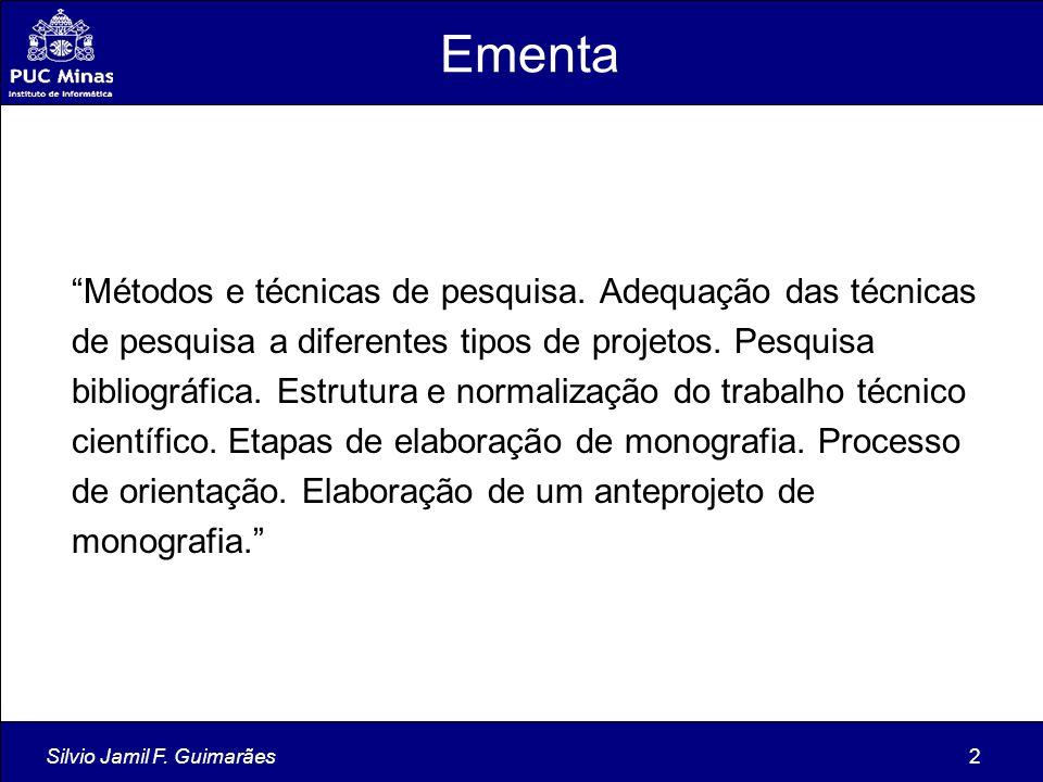 Silvio Jamil F.Guimarães113 Qual é o problema do plágio.