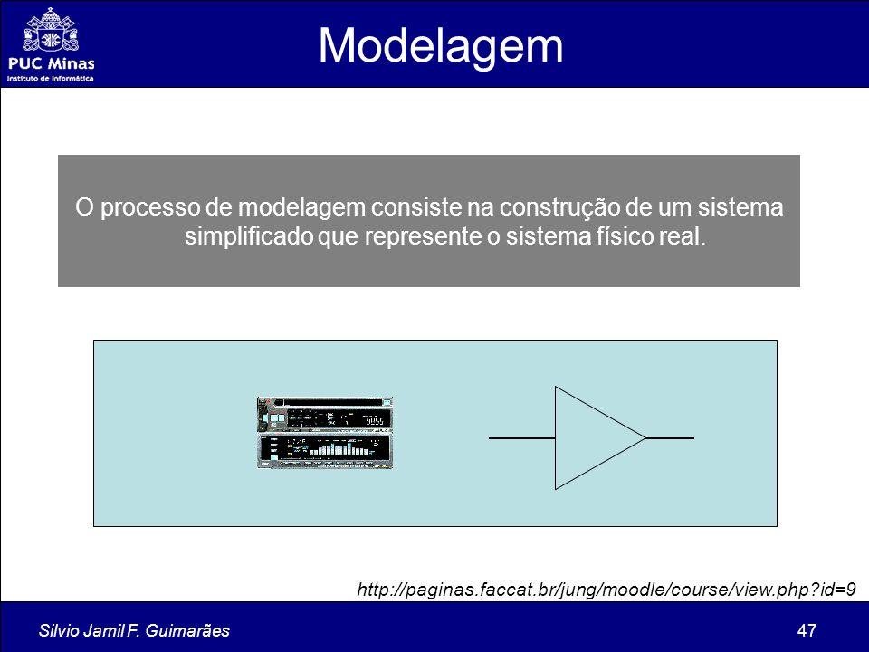 Silvio Jamil F. Guimarães47 O processo de modelagem consiste na construção de um sistema simplificado que represente o sistema físico real. Modelagem