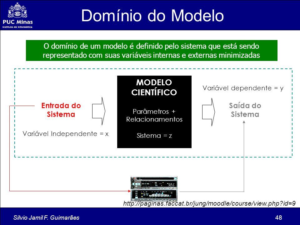 Silvio Jamil F. Guimarães48 O domínio de um modelo é definido pelo sistema que está sendo representado com suas variáveis internas e externas minimiza