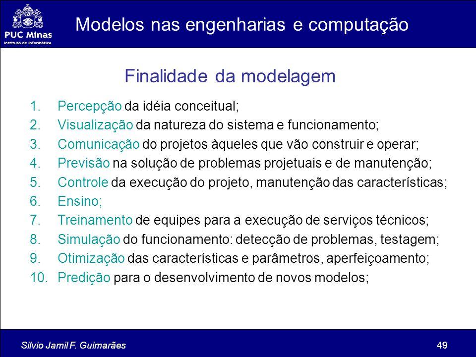 Silvio Jamil F. Guimarães49 1.Percepção da idéia conceitual; 2.Visualização da natureza do sistema e funcionamento; 3.Comunicação do projetos àqueles