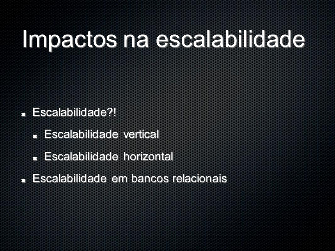Impactos na escalabilidade Escalabilidade?.