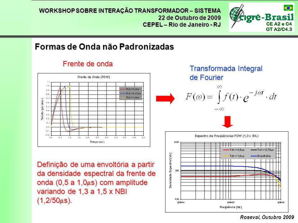 WORKSHOP SOBRE INTERAÇÃO TRANSFORMADOR – SISTEMA 22 de Outubro de 2009 CEPEL – Rio de Janeiro - RJ Roseval, Outubro 2009 Formas de Onda não Padronizad
