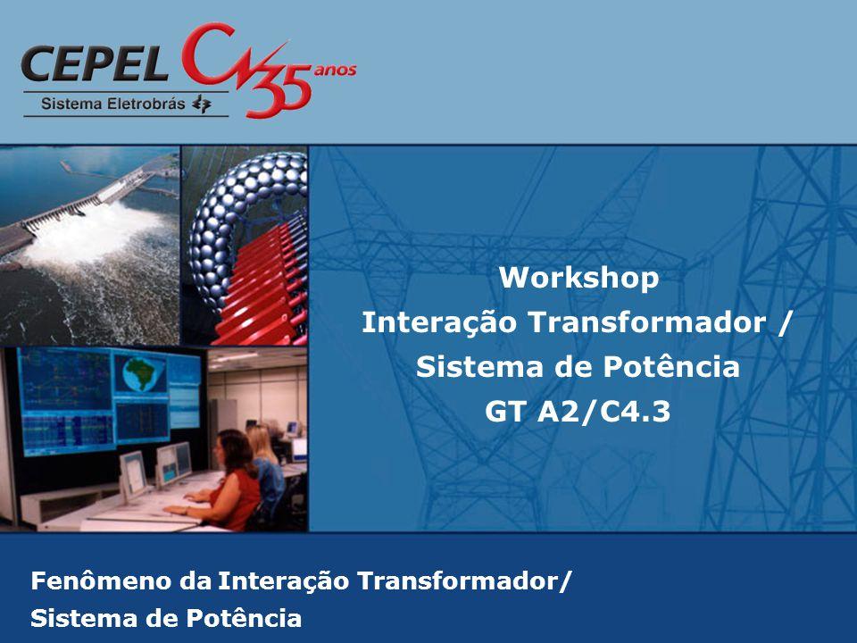 Fenômeno da Interação Transformador/ Sistema de Potência Workshop Interação Transformador / Sistema de Potência GT A2/C4.3