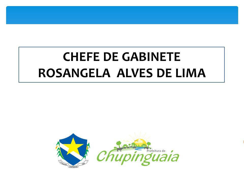 Crie sua apresentação Crie, organize e colabore CHEFE DE GABINETE ROSANGELA ALVES DE LIMA