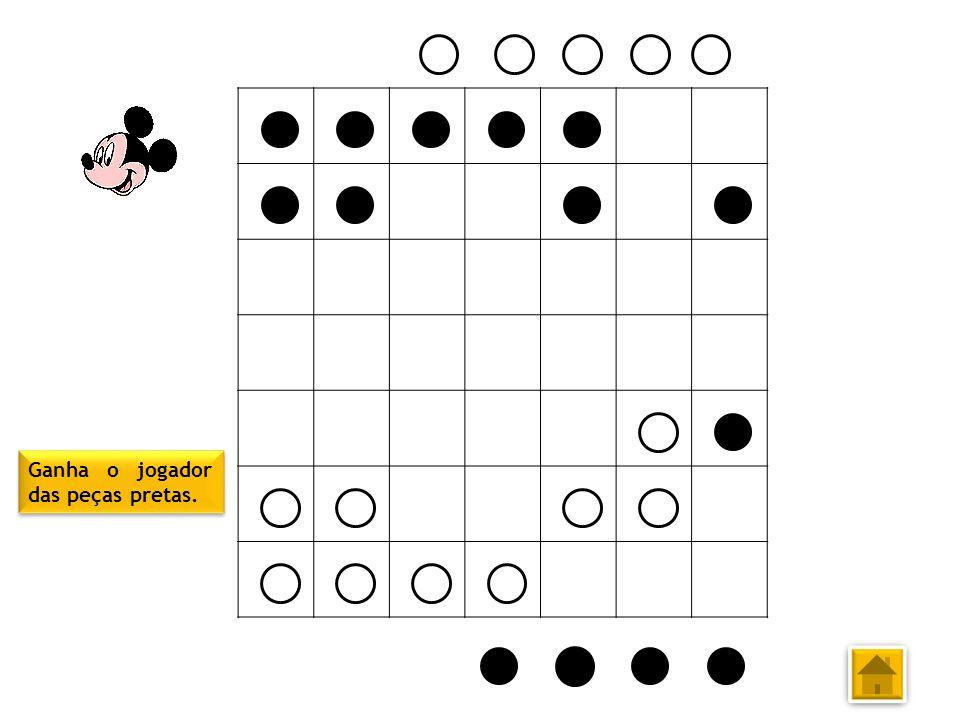 Ganha o jogador das peças pretas.