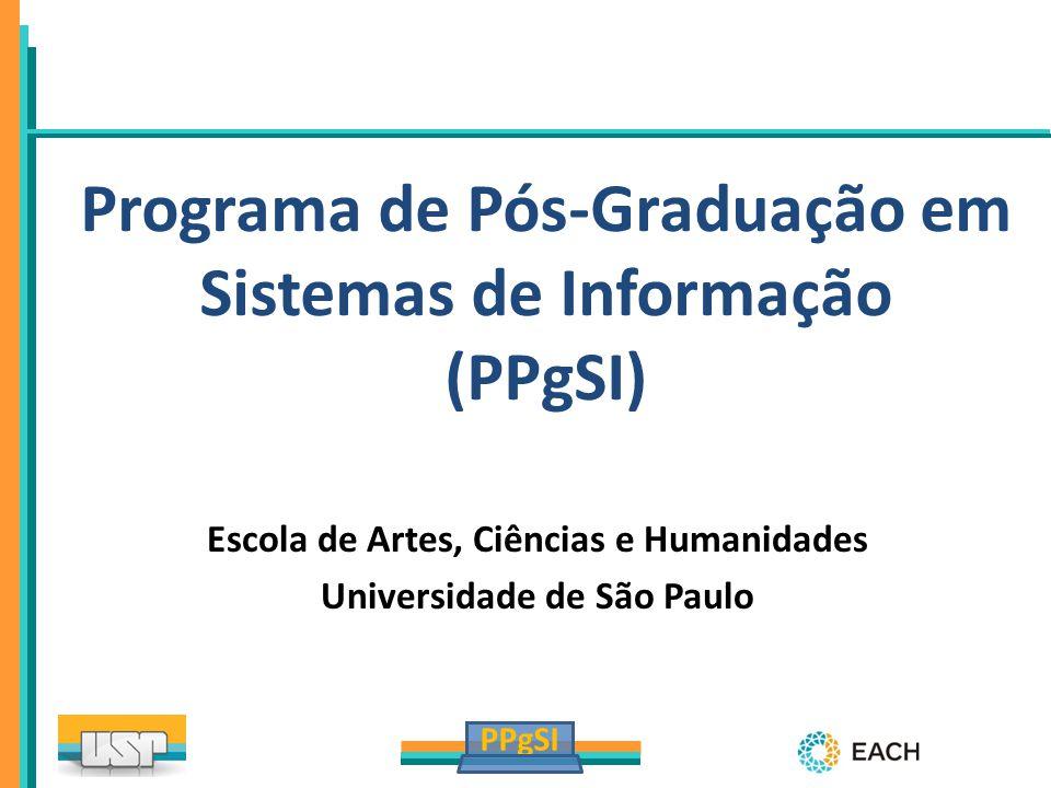 PPgSI Programa de Pós-Graduação em Sistemas de Informação (PPgSI) Escola de Artes, Ciências e Humanidades Universidade de São Paulo