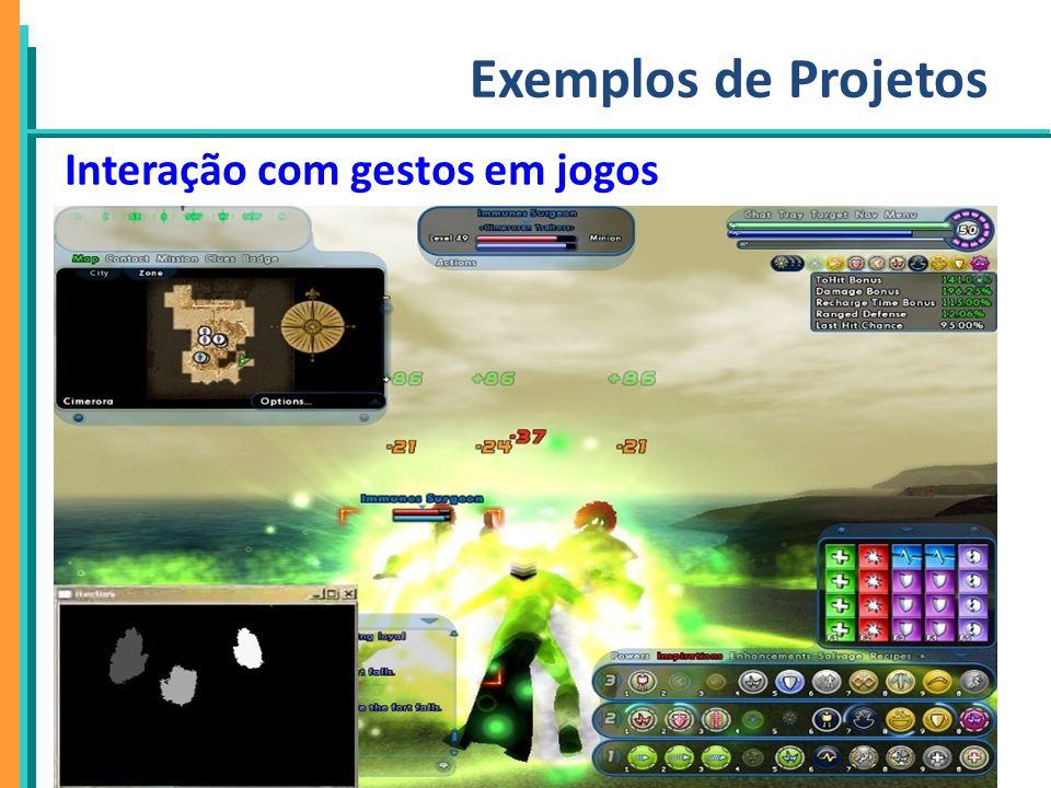 PPgSI Exemplos de Projetos Interação com gestos em jogos