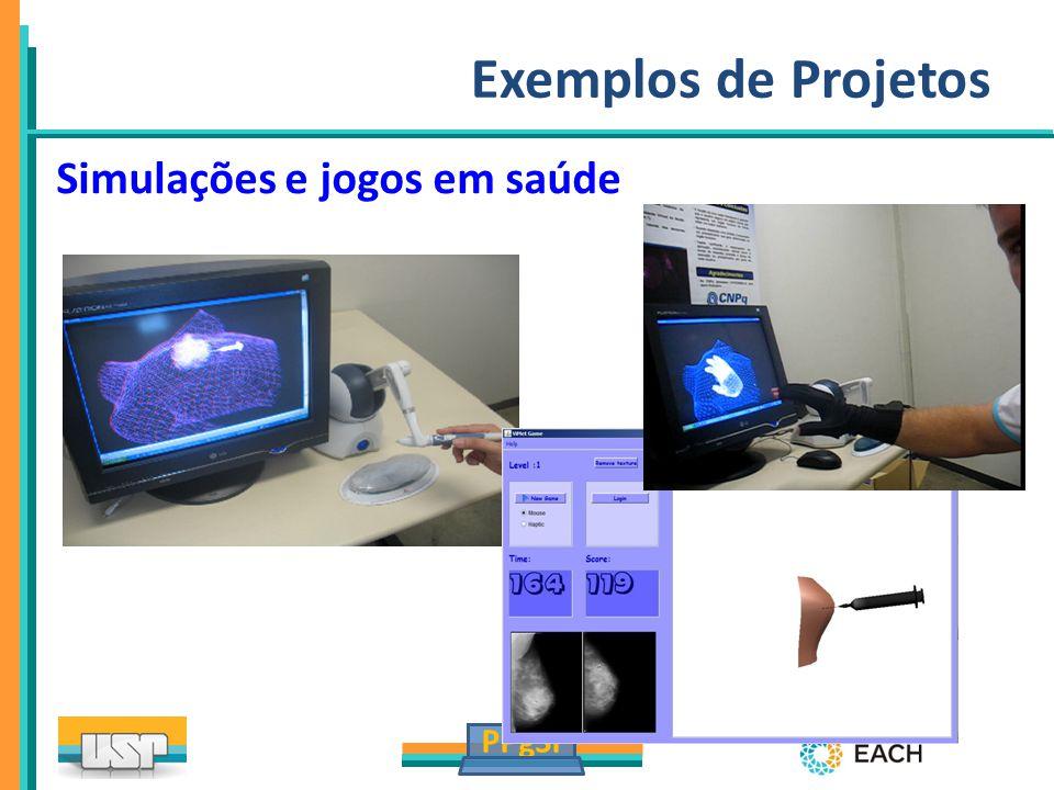 PPgSI Exemplos de Projetos Simulações e jogos em saúde
