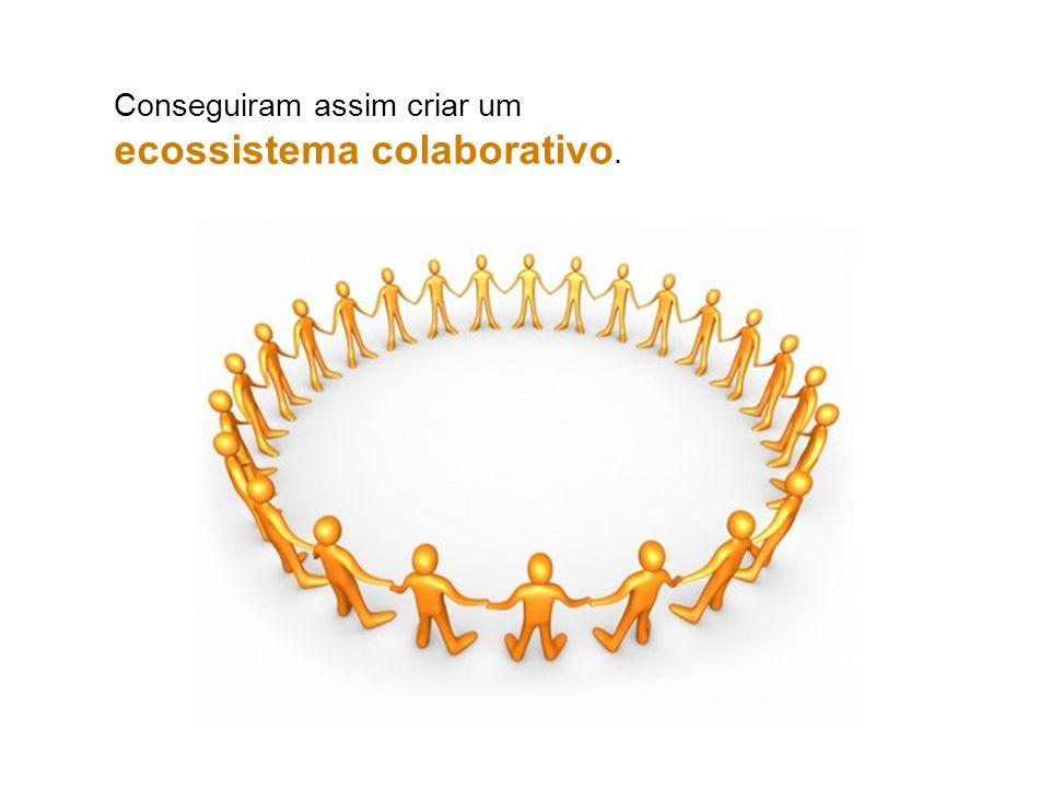 Conseguiram assim criar um ecossistema colaborativo.