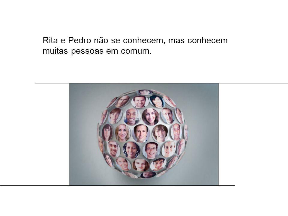Rita e Pedro não se conhecem, mas conhecem muitas pessoas em comum.