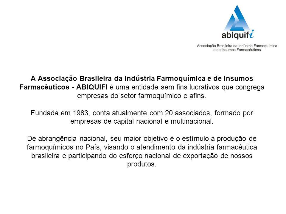 A Associação Brasileira da Indústria Farmoquímica e de Insumos Farmacêuticos - ABIQUIFI é uma entidade sem fins lucrativos que congrega empresas do setor farmoquímico e afins.