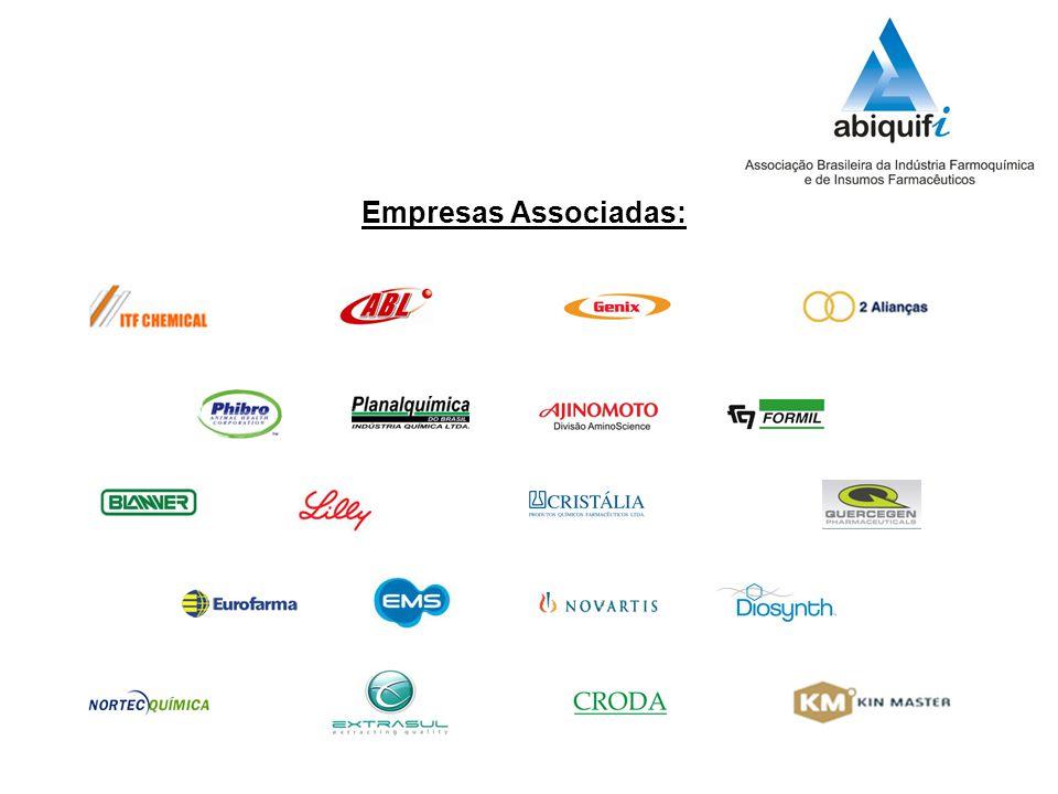 Segmentos que compõem o setor: Empresas fabricantes de intermediários, fármacos e de medicamentos, Distribuidores, Hospitais, Médicos e Consumidor final.