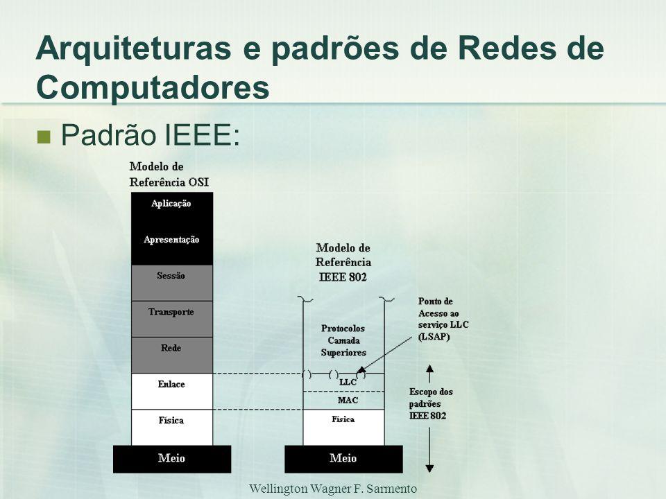 Wellington Wagner F. Sarmento Arquiteturas e padrões de Redes de Computadores Padrão IEEE: