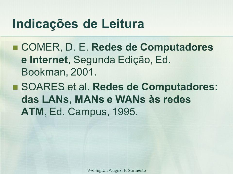 Wellington Wagner F.Sarmento Indicações de Leitura COMER, D.