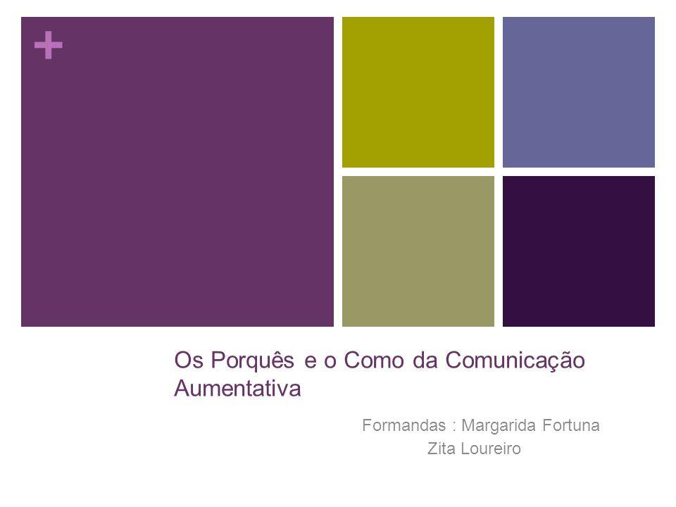 + Os Porquês e o Como da Comunicação Aumentativa Formandas : Margarida Fortuna Zita Loureiro