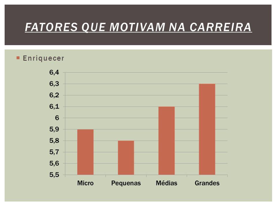  Enriquecer FATORES QUE MOTIVAM NA CARREIRA