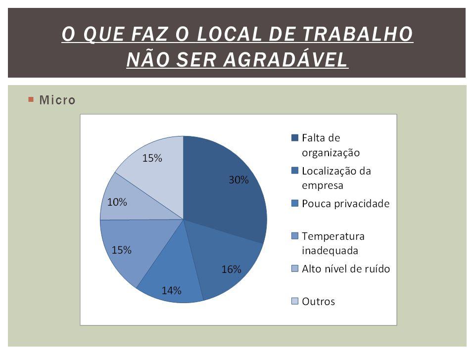  Micro O QUE FAZ O LOCAL DE TRABALHO NÃO SER AGRADÁVEL