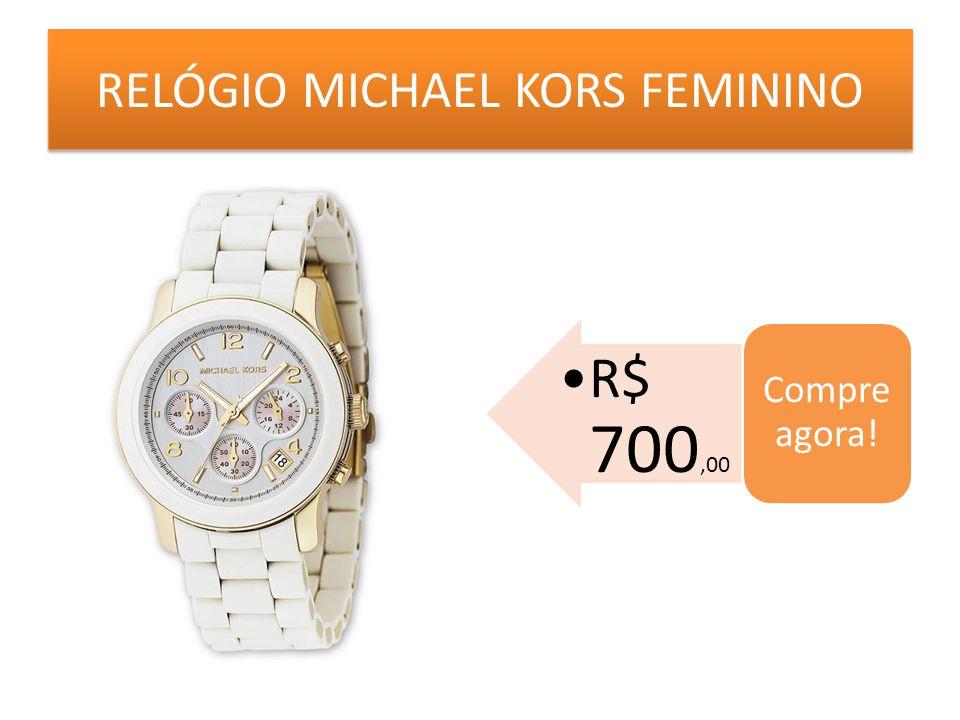 RELÓGIO MICHAEL KORS FEMININO R$ 700,00 Compre agora!