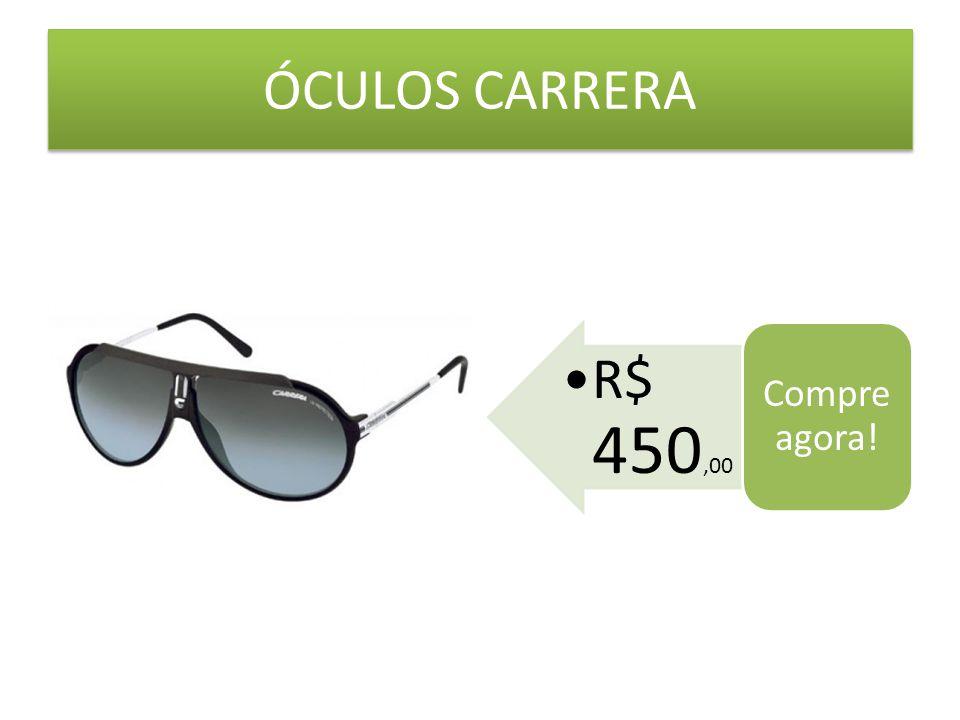 ÓCULOS CARRERA R$ 450,00 Compre agora!