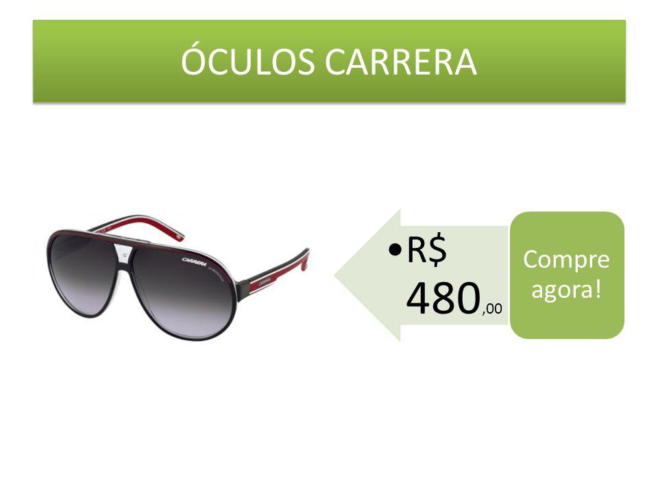 ÓCULOS CARRERA R$ 480,00 Compre agora!