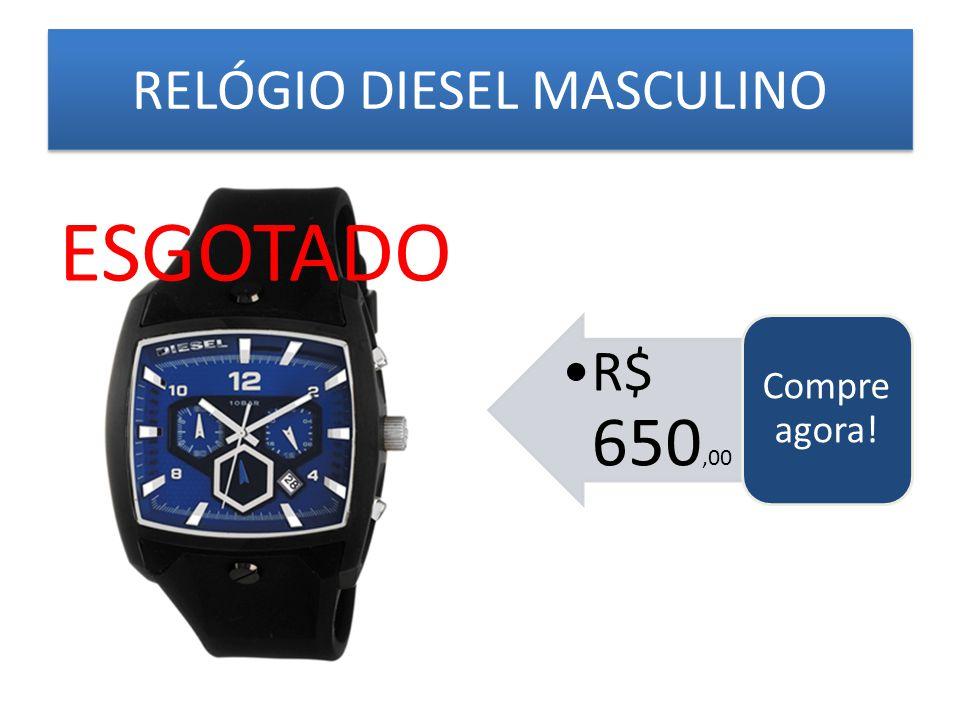 RELÓGIO DIESEL MASCULINO R$ 650,00 Compre agora! ESGOTADO