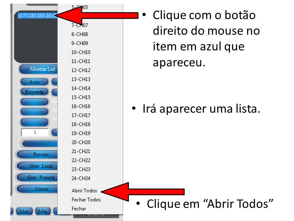 Clique com o botão direito do mouse no item em azul que apareceu.