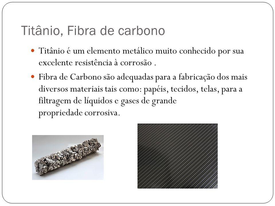 Titânio, Fibra de carbono Titânio é um elemento metálico muito conhecido por sua excelente resistência à corrosão.