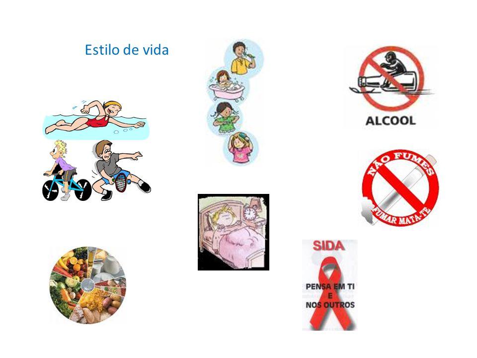 Factores individuais Factores biológicos – Idade – Sexo – Genes Estilo de vida – Hábitos alimentares – Hábitos de higiene – Comportamentos sexuais de risco – Prática de exercício físico – Consumo de álcool – Consumo de drogas – Consumo de tabaco